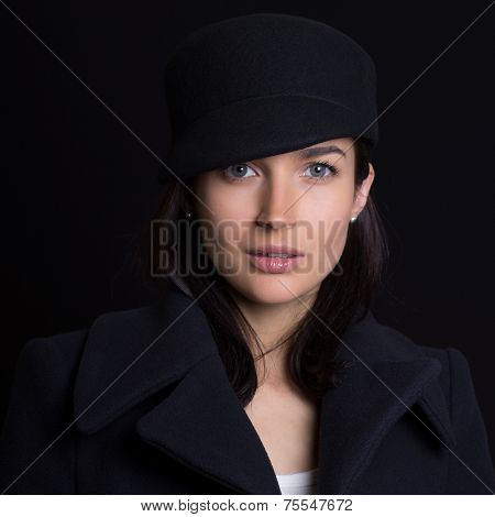 The Attractive Woman In A Cap