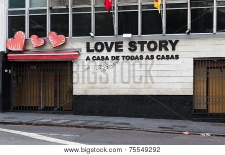SAO PAULO, BRAZIL - AUG 3: Love Story on August 3, 2013 in Sao Paulo, Brazil. Love Story is a raunchy and crowded affair boasting skimpily clad girls spicing up what is otherwise a sticky dance floor