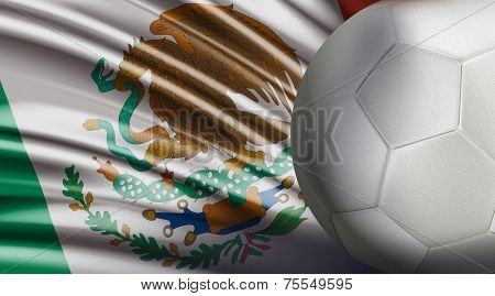 Amazing Soccer Ball with the Mexican Flag
