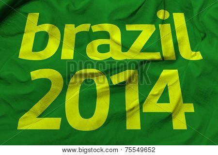 Amazing flag with Brazil and the number 2014