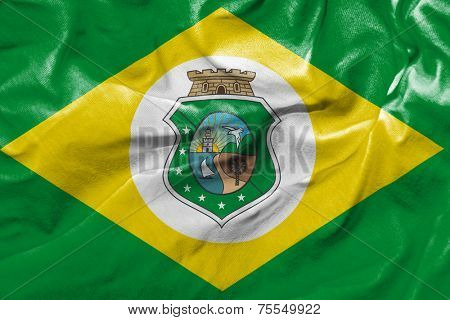 Amazing flag of the State of Ceara , Brazil