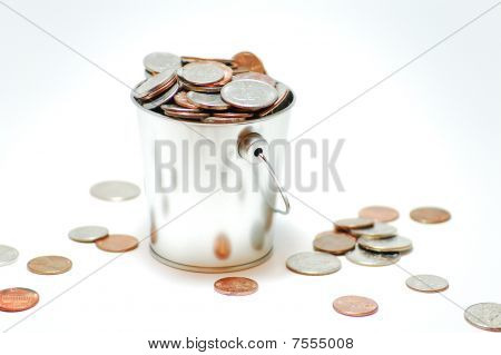 A Pail of Coins.
