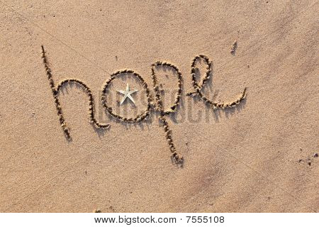 Hope written in Sand
