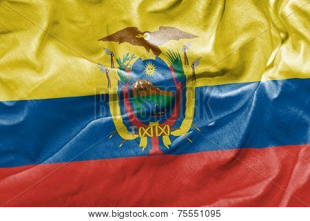 Amazing Flag of Ecuador, Latin America