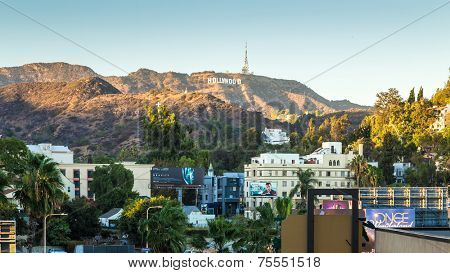 HOLLYWOOD, CALIFORNIA - SEPTEMBER 28: The world famous landmark Hollywood Sign on September 28, 2013 in Los Angeles, California.