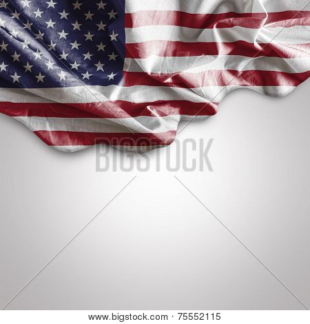 Waving flag of USA - United States of America