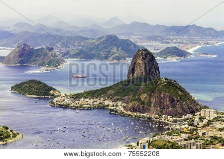 Amazing view of Rio de Janeiro with the Sugarloaf Mountain, Brazil - Latin America