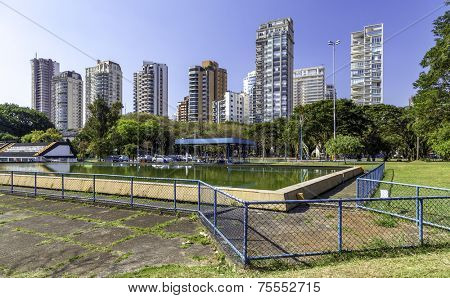 Sophisticated residencial buildings in Sao Paulo, Brazil