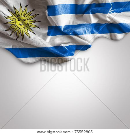 Waving flag of Uruguay, Latin America