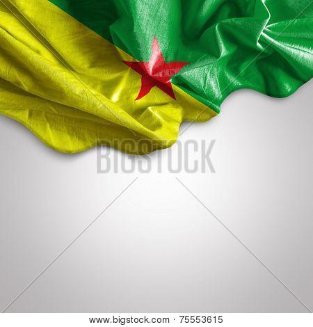 Waving flag of French Guiana, America