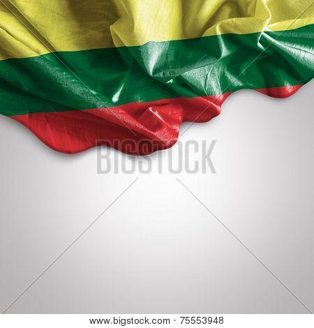 Waving flag of Lithuania, Europe