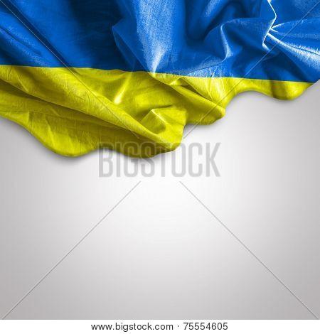 Waving flag of Ukraine