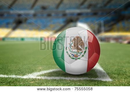 Mexico soccer ball on the soccer field