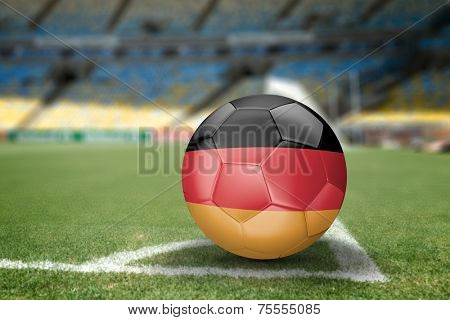 Germany soccer ball on the soccer field