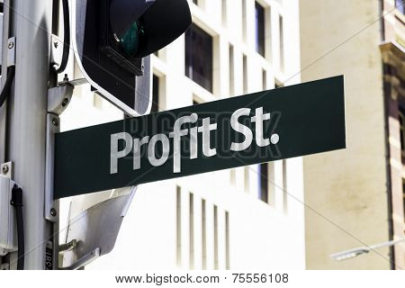 Profit Street Creative Sign