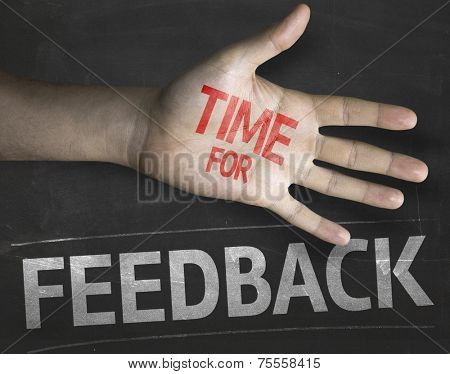 Educational and Creative composition with the message Time for Feedback