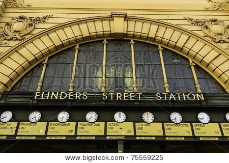 Flinders Station in Melbourne, Australia