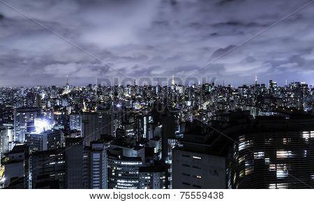Sao Paulo in Brazil at night