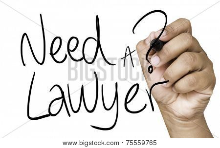 Need a Lawyer hand writing on black marker on transparent wipe board
