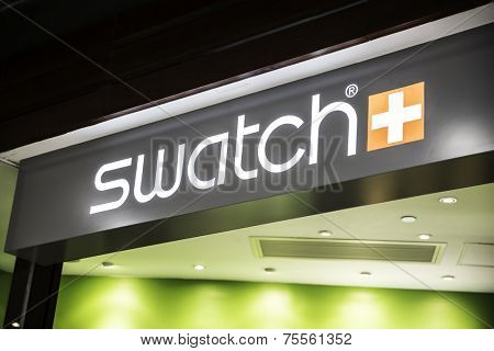 JAPAN, TOKYO - CIRCA MAY 2014: Swatch store in Tokyo, Japan. Swatch group is a profitable watch manufacturer with profit of 1.074 billion CHF (2010). It employs 24,240 people (2010 avg).