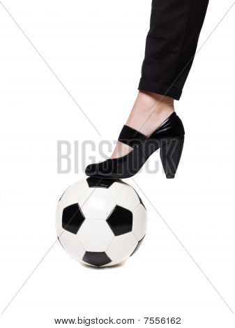 Ladies highheel football