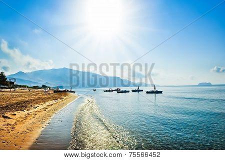 Sunny day on the island, Greece