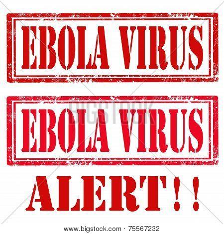 Set Of Ebola Stamps