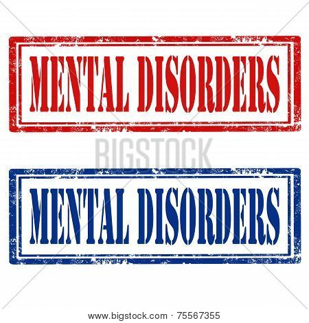 Set Of Mental Disorders Stamps