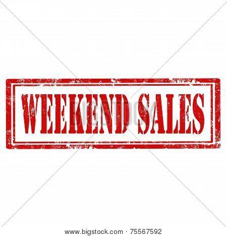 Weekend Sales stamp