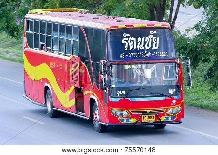 CHIANGMAI , THAILAND - MAY 21 2014: An unidentified Bus route Ubon ratchathani and Piboon Mangsaharn