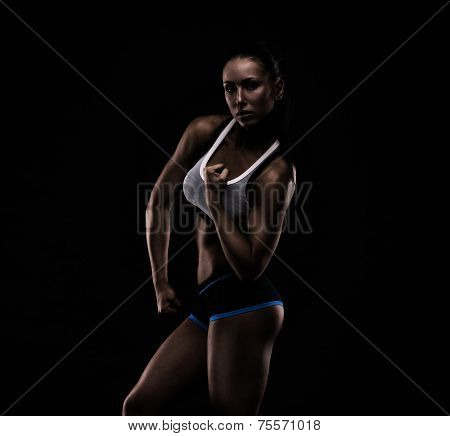Young Sports-looking Nice Lady With Dark Hair