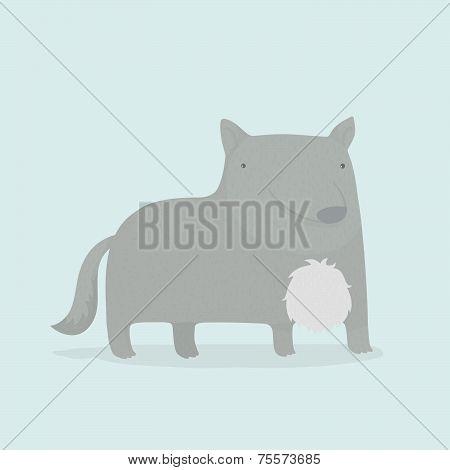 Cartoon wolf.