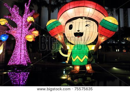 Mexian cartoon laterns for Chinese moon festival