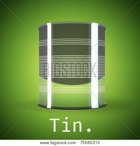 Silver tin can