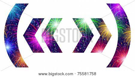 Set of punctuation signs, firework