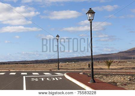 New Roads For The Development Area In Lanzarote