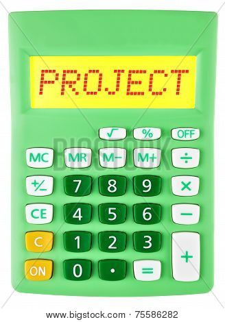 Calculator With Project On Display