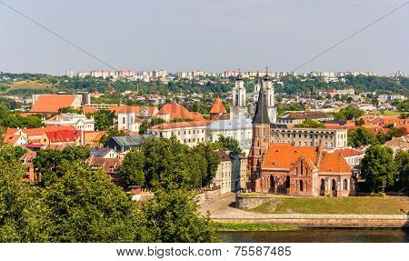View Of Historic Center Of Kaunas - Lithuania