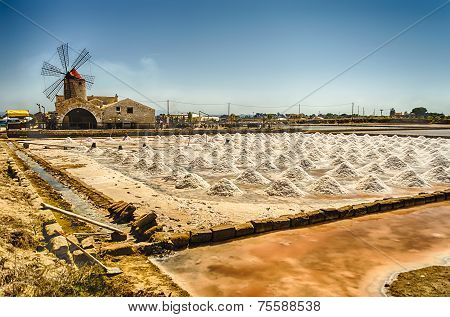 The Salt Flats Of Trapani, Sicily