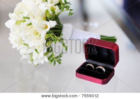 Two Wedding Rings In Nice Box