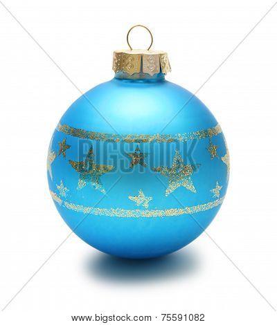 Blue christmas ball