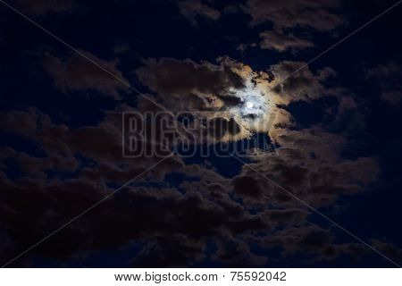 The Moon Behind Clouds