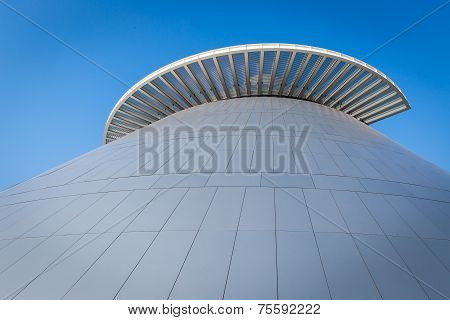Macau, China: October 17, 2014: Top Of Science Museum Of Macau Which Is The Modern Architecture With