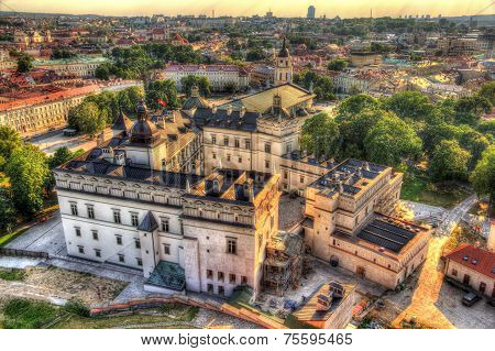 View Of Lithuanian Royal Palace In Vilnius