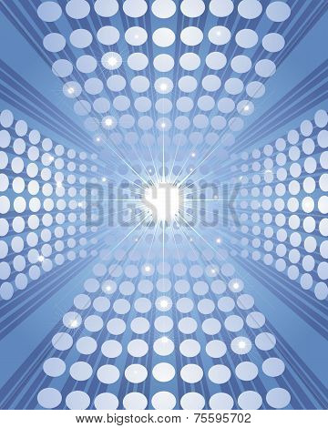 Blue Background With Circles
