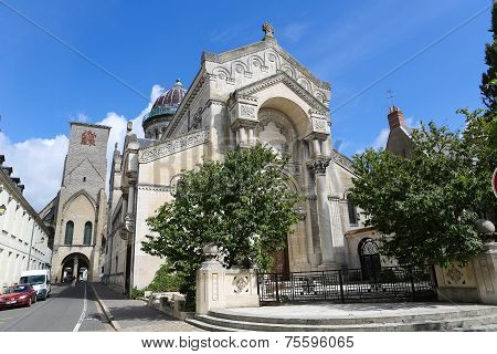 Basilique Saint Martin And Tours Charlemagne In Tours, France