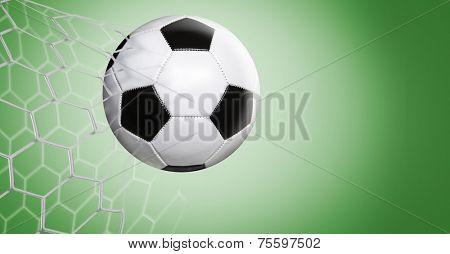 Amazing goal on green background