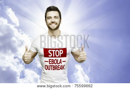Campaign Stop Ebola Outbreak by a man on a beautiful day
