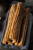 picture of churros  - Homemade Deep Fried Churros with Cinnamon and Sugar - JPG