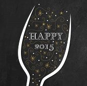 picture of chalkboard  - Golden New Year - JPG